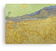 Vincent Van Gogh - Wheatfield with a reaper, Impressionism Van Gogh Canvas Print