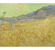 Vincent Van Gogh - Wheatfield with a reaper, September 1889 - 1889 Photographic Print