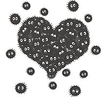 Heart of Soot Sprites Photographic Print