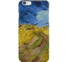 Vincent Van Gogh - Wheatfield with crows, Impressionism.Van Gogh iPhone Case/Skin