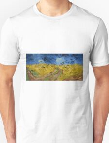 Vincent Van Gogh - Wheatfield with crows, July 1890 - 1890 T-Shirt