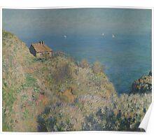 Claude Monet - La maison du pêcheur Varengeville French  Impressionism.  Poster