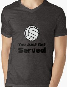 Volleyball Served Mens V-Neck T-Shirt