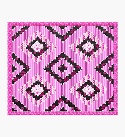 cool retro patch country style  Photographic Print