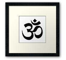 Yoga Om Framed Print