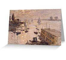 Claude Monet - Le Bassin d'Argenteuil vu depuis le pont routier (1874) French  Impressionism. Famous painting Greeting Card