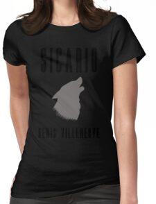 Sicario Minimalist Design Womens Fitted T-Shirt