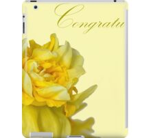 Greeting card with yellow narcissus flowers iPad Case/Skin