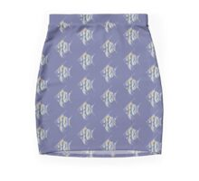 Watercolor tropical fish 2 Mini Skirt