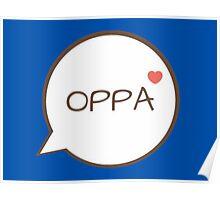 OPPA - Blue Poster
