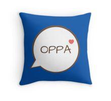 OPPA - Blue Throw Pillow