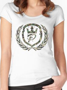 Pride Gym Wear Camo Logo Women's Fitted Scoop T-Shirt