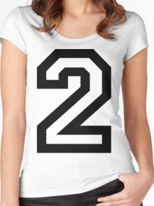 Number Two Women's Fitted Scoop T-Shirt