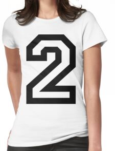 Number Two Womens Fitted T-Shirt