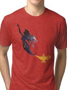 Mermaid - Genie Lamp - Galaxy Tri-blend T-Shirt