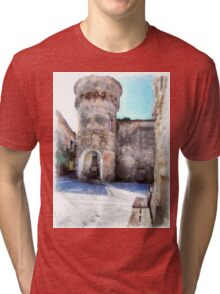 Vatolla: tower with fountain Tri-blend T-Shirt