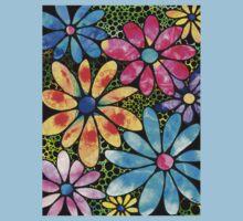 Floral Art - Big Flower Love - Sharon Cummings Baby Tee