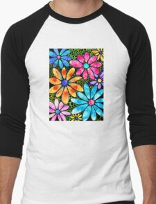 Floral Art - Big Flower Love - Sharon Cummings Men's Baseball ¾ T-Shirt