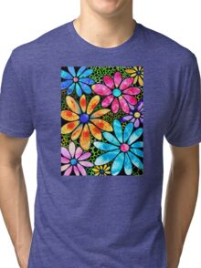 Floral Art - Big Flower Love - Sharon Cummings Tri-blend T-Shirt