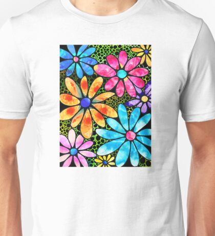 Floral Art - Big Flower Love - Sharon Cummings Unisex T-Shirt