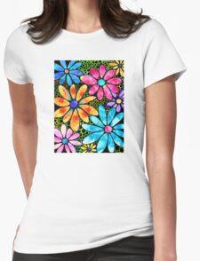 Floral Art - Big Flower Love - Sharon Cummings Womens Fitted T-Shirt