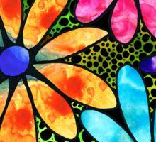 Floral Art - Big Flower Love - Sharon Cummings Sticker