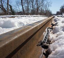 Snowy Train Tracks by CSSphotos