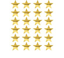 You Tried Stars - Sticker Pack Photographic Print