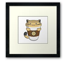 Catpuccino Framed Print