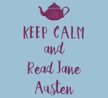 Keep Calm and Read Jane Austen Kids Tee