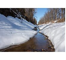 Stream on a winter day Photographic Print