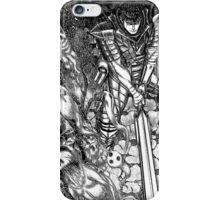 guts slaying spirits, berserk manga iPhone Case/Skin