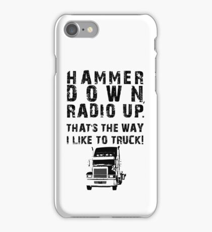Hammer Down! (BlackText/Graphic) iPhone Case/Skin