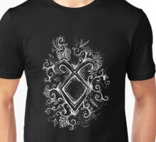 Angelic Rune Mandala- Inverted Unisex T-Shirt