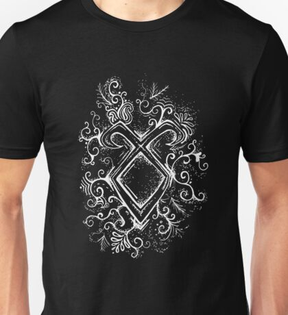 Angelic Rune Mandala- Inverted Unisex T-Shirt