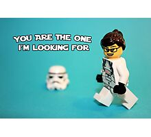 Lady Stormtrooper Valentine Photographic Print