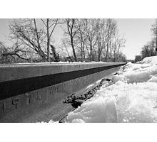 Winter Train Tracks Photographic Print