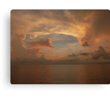 sunset with clouds II - puesta del sol con nubes Canvas Print