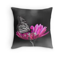 colorized butterfly  Throw Pillow