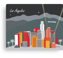 Los Angeles - Skyline Illustration by Loose Petals Canvas Print