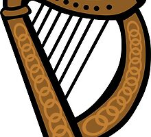 Irish Harp by partypeepsfun