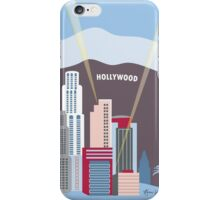 Blue Los Angeles - Skyline Illustration by Loose Petals iPhone Case/Skin