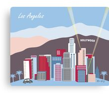 Blue Los Angeles - Skyline Illustration by Loose Petals Canvas Print