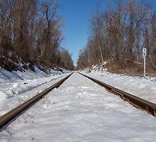 HDR Snowy Train Tracks by CSSphotos