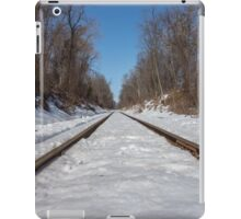 HDR Snowy Train Tracks iPad Case/Skin