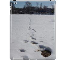 Foot Steps in Snow iPad Case/Skin