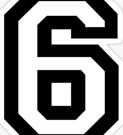 Number Six Sticker