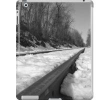 Train Tracks on a snowy winter day iPad Case/Skin