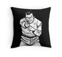 punk shooting range target Throw Pillow
