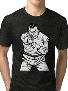 punk shooting range target Tri-blend T-Shirt